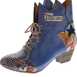 Tma eyes maia ankle boots pattern new nwt